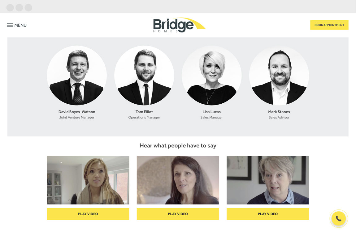 bridge-homes-web design